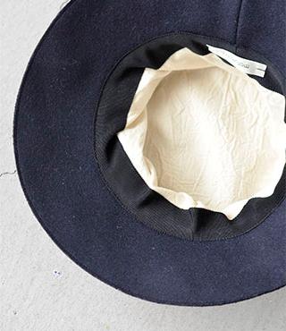 "mature ha.(マチュアーハ)メルトンドレープハット""melton drape hat middle"" maw17-01m"