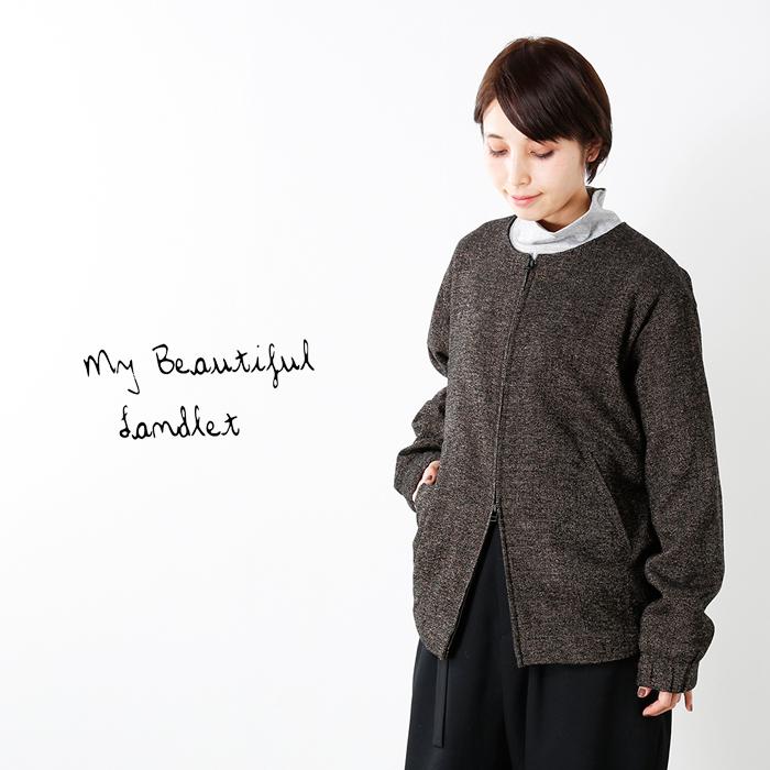 mybeautifullandlet(マイビューティフルランドレット)ブリティッシュウール混ブルゾンwm06-bz172062