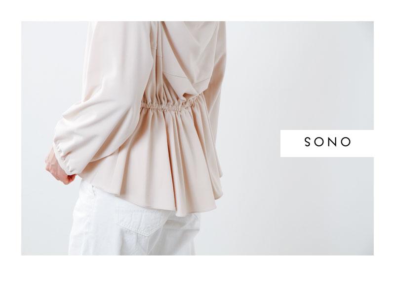 SONO(ソーノ)バックコンシャスレーヨンミックスプルオーバー s166bv073