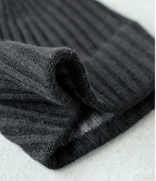 "mature ha.(マチュアーハ)ニットキャップ""slant cutting knit cap lamb"" mk-2133"