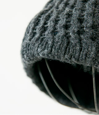 """mature ha.(マチュアーハ)ウールニットキャップ""""slant cutting knit cap aran2 lamb"""" mk-2135"""