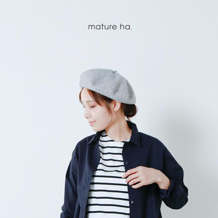 "mature ha.(マチュアーハ)トップギャザービッグウールベレー""beret top gather big"" mkf-2001"
