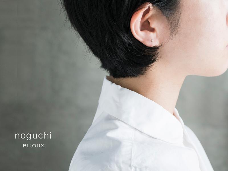 noguchi BIJOUX(ノグチ)ローズカットホワイトダイヤピアス nn383
