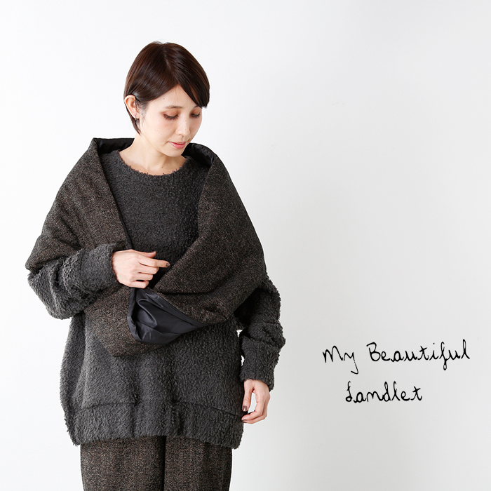 mybeautifullandlet(マイビューティフルランドレット)ブリティッシュウール混スヌードwm06-ac172066