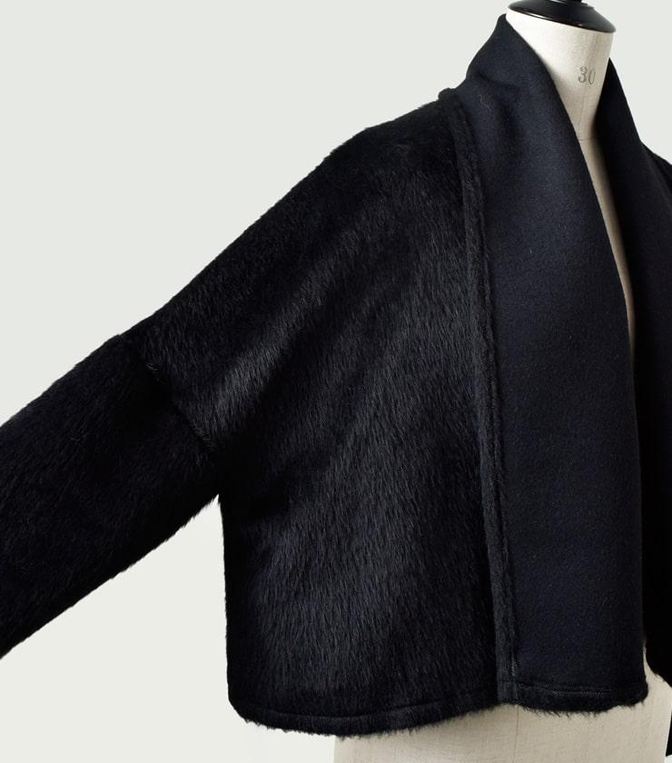 Tabrik(タブリク)ウールアルパカシャギージャケット 181202