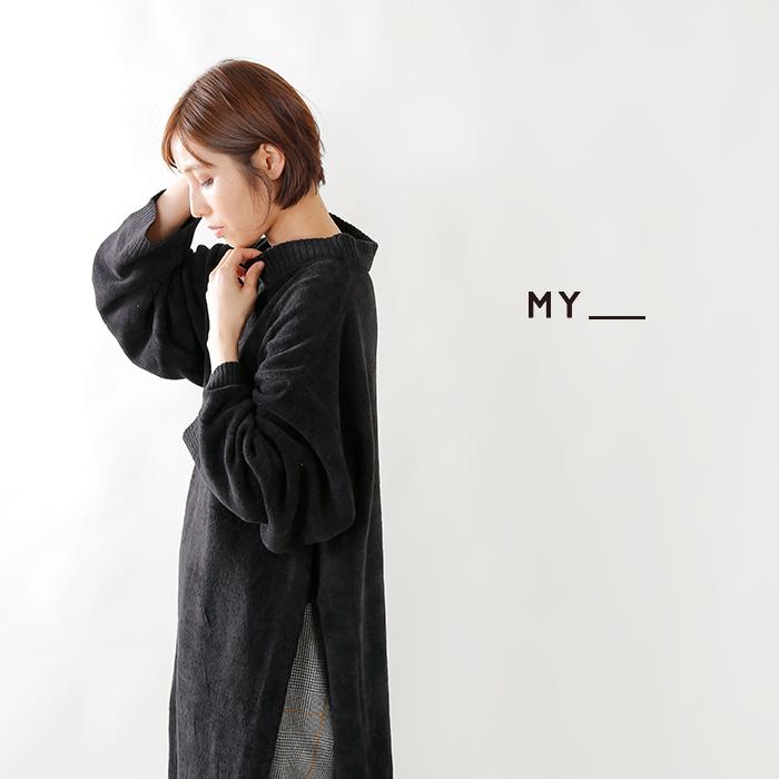 "MY(マイ)シェニールニットワンピース ""CHENILLE KNIT ONE PIECE"" 183-61203"