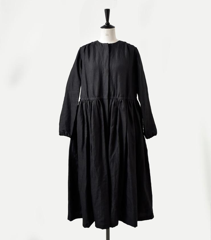 R & D.M.Co-(オールドマンズテーラー)ヘリンボーンリネンギャザードレス 3203