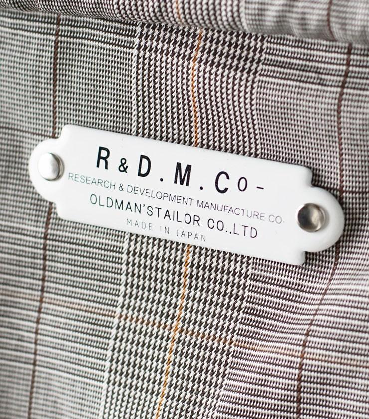 R & D.M.Co-(オールドマンズテーラー)グレンチェックマルシェバッグ 3227
