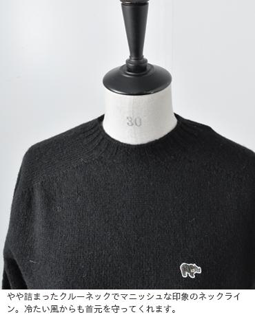 Scye(サイ)シェットランドWGクルーネックセーター 5218-13601