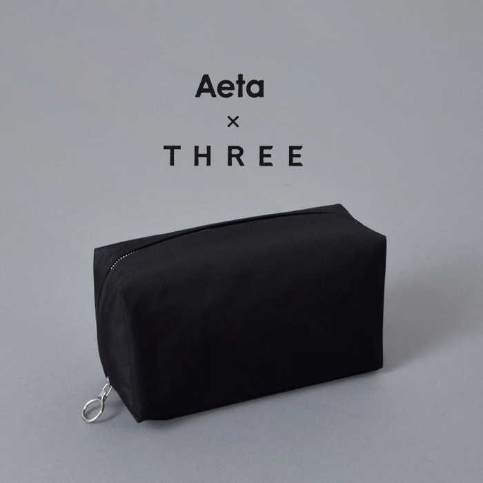 """Aeta(アエタ)×THREE(スリー)コスメポーチM""""COSMETIC POUCH M"""" at03"""
