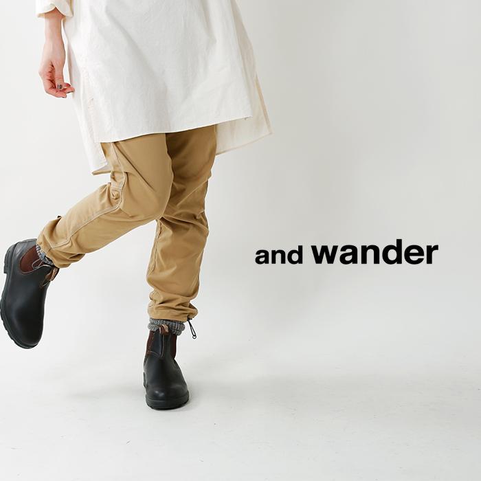 and wander(アンドワンダー)リフレクターステッチ クライミングパンツ aw83-ff646