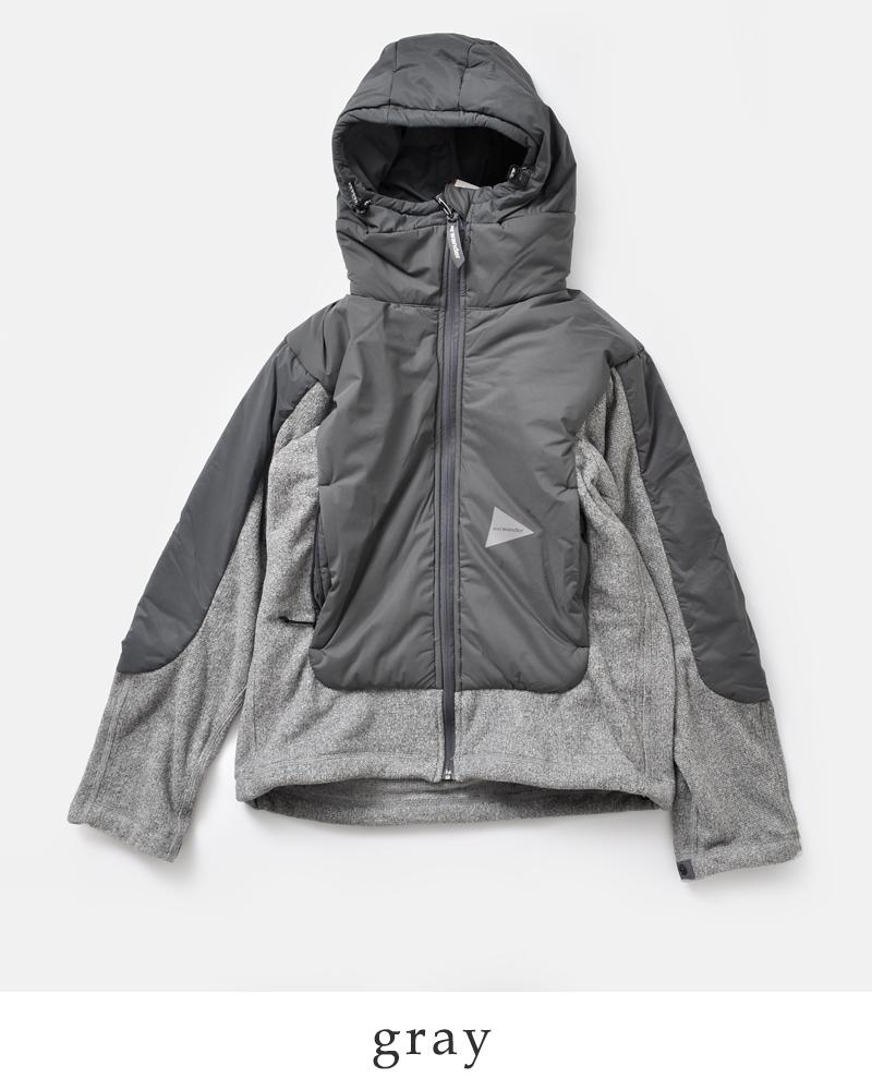 "and wander(アンドワンダー)ツイルフリースジャケット""top fleece jacket"" aw83-jt636"