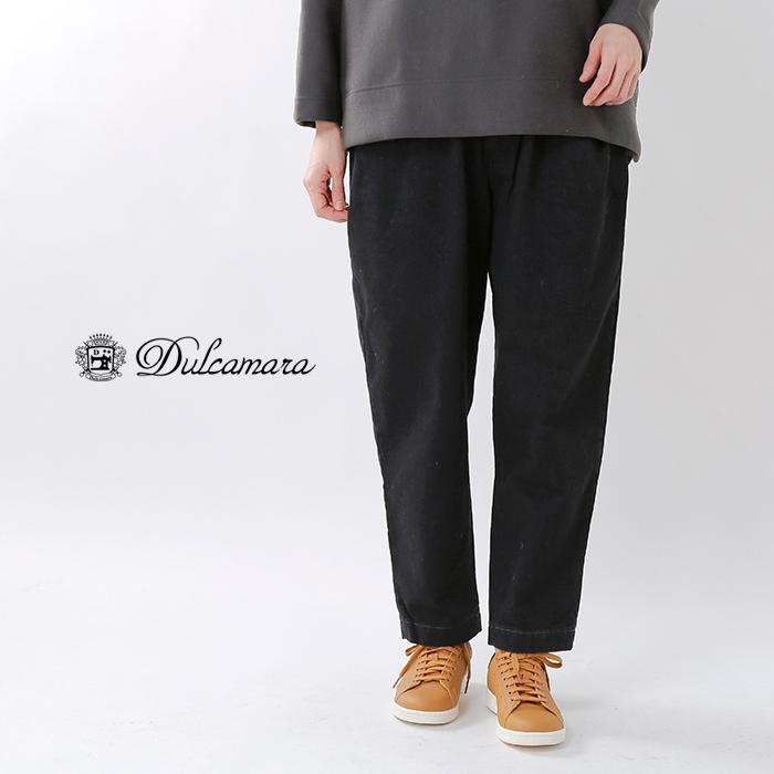 Dulcamara(ドゥルカマラ)ブラックデニムオーバータックパンツ d218-p706-b