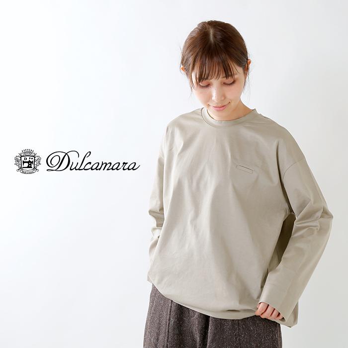 Dulcamara(ドゥルカマラ)圧縮天竺コットンバルーンロングTシャツ d218-t1217