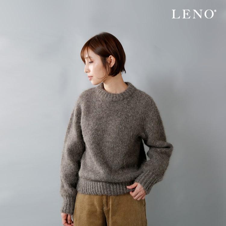 LENO(リノ)ウールアルパカタムヤーンニットセーター l1802-k001