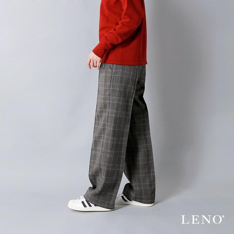 LENO(リノ)ウールグレンチェックトラウザー l1802-pt003