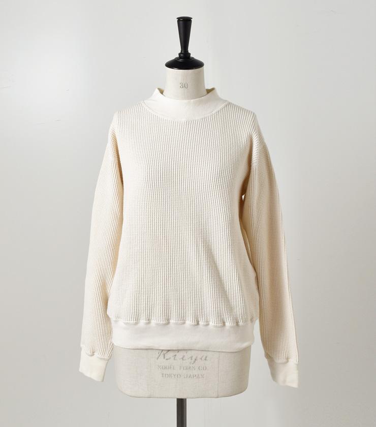 LENO(リノ)ワッフルモックネックロングスリーブTシャツ l1802-u002