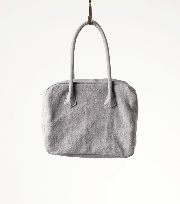 "MARTAU.(マルト)ヴィンテージフレンチリネンハンドバッグS""BOX BAG S"" mb-002"
