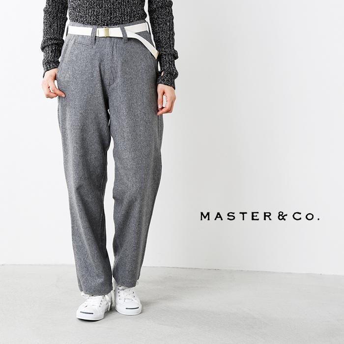 MASTER&Co.(マスターアンドコー)ベルト付きウールワイドパンツ mc946