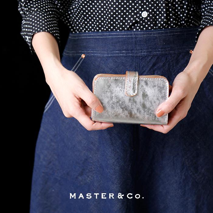 MASTER&Co.(マスターアンドコー)メタリックレザー二つ折りウォレット mc983