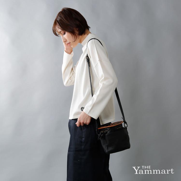 Yammart(ヤマート)カウレザーポットモチーフキューブ型ミニバッグ pot-cube-m
