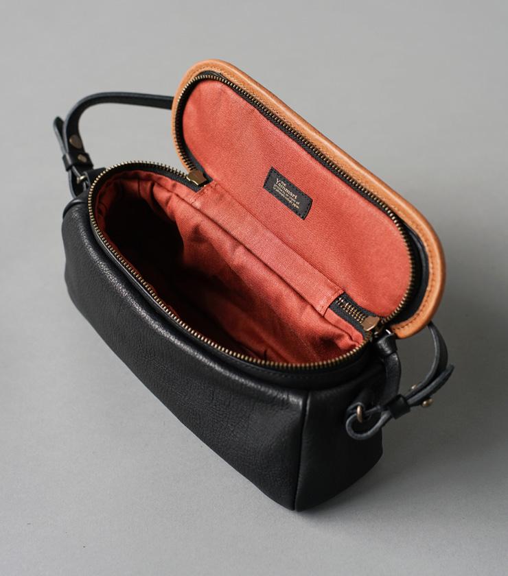 Yammart(ヤマート)カウレザーポットモチーフミニバッグ pot-rectangle