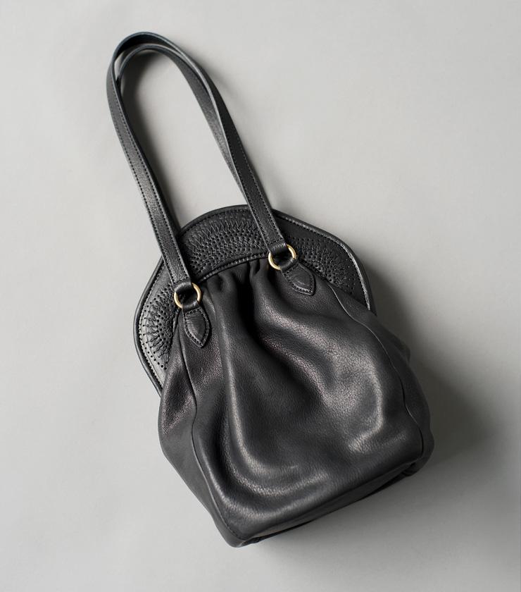 Yammart(ヤマート)カウレザーポットモチーフミニバッグ stitchhandbag