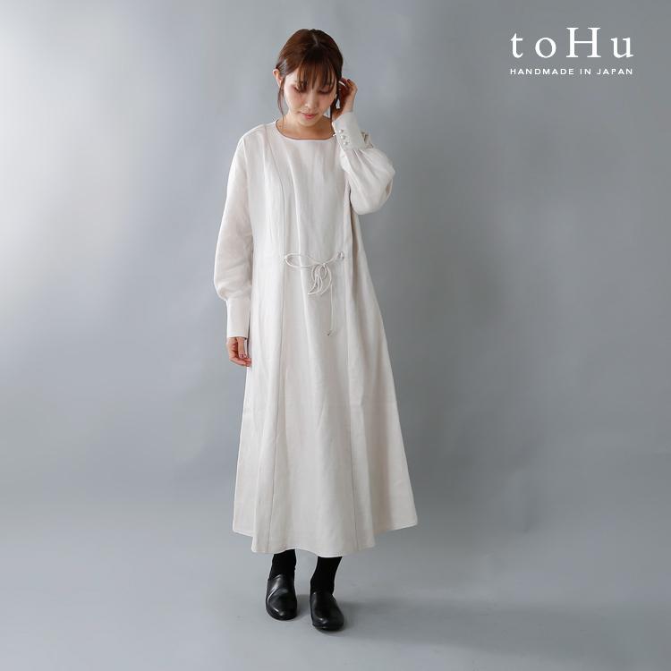 toHu(トフ)リネンローブワンピース th18w0007b