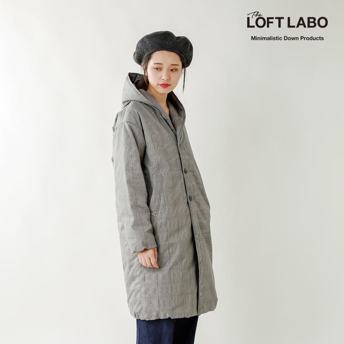 "The Loft Labo(ロフトラボ)×NANGA(ナンガ)aranciato別注 グレンチェックフーデッドロングダウンコート""WIIS"" tl15fjk04at"