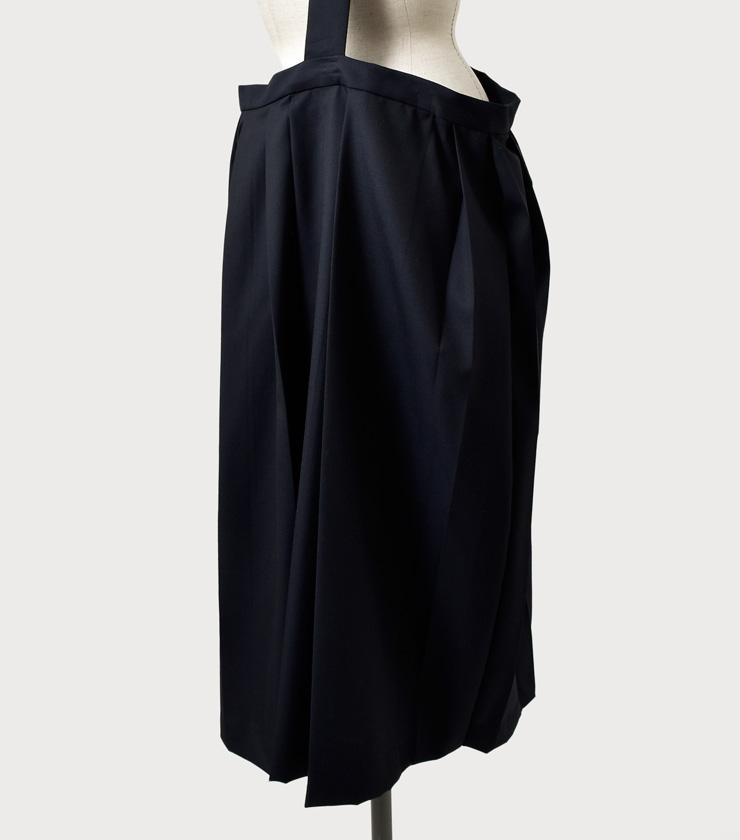 "TOUJOURS(トゥジュー)ワンショルダーランダムプリーツスカート""One Shoukder Random Pleated Skirt"" tm29gk01"