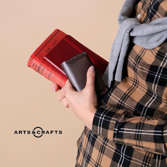Arts&Crafts(アーツアンドクラフツ)ホリデーライン ホースレザーコードバンダブルポケットカードケース wpocketcardcase