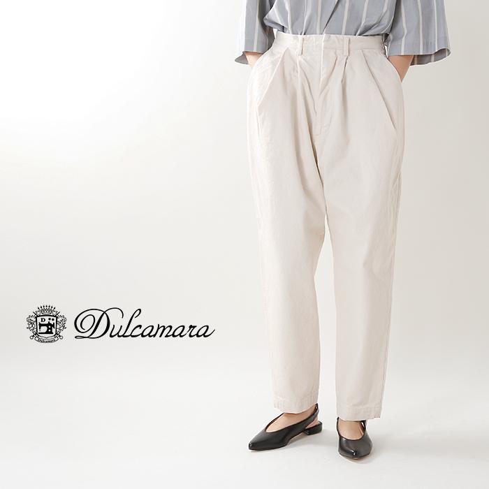 Dulcamara(ドゥルカマラ)デニムオーバータックパンツd118-p506-k