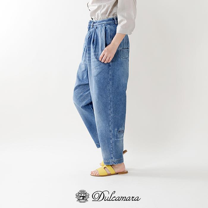 Dulcamara(ドゥルカマラ)デニムオーバータックパンツd118-p506-u