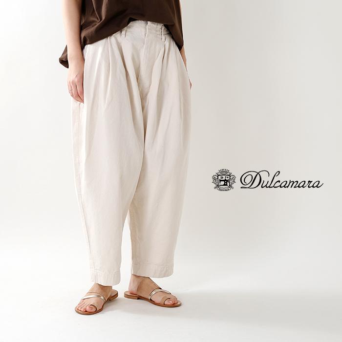 Dulcamara(ドゥルカマラ)デニム3タックワイドパンツd118-p518-k