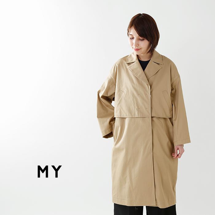 """MY(マイ)コットン100%ライトハーフコート""""LIGHTHALFCOAT""""181-61702"""
