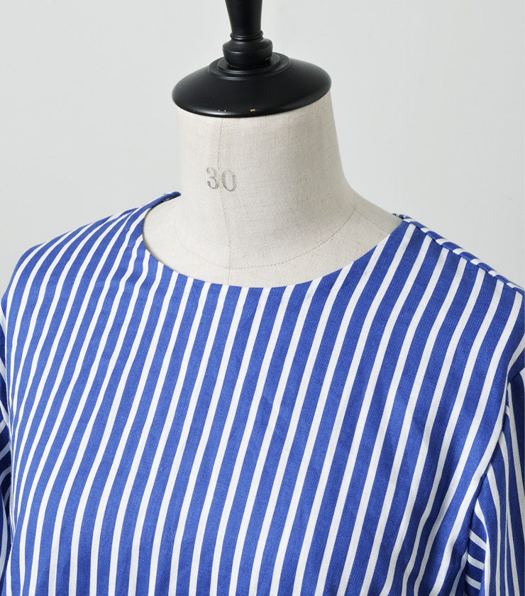 R & D.M.Co-(オールドマンズテーラー)ストライプバルーンスリーブシャツ STRIPE BALLON SLEEVE 2919