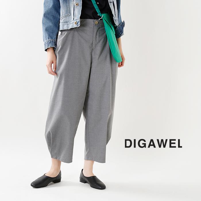 DIGAWEL(ディガウェル)裾タックテーパードパンツdwroa032