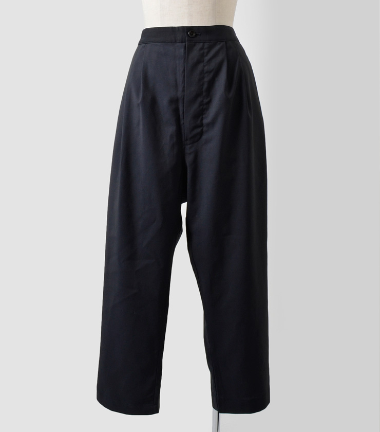 "TOUJOURS(トゥジュー)ウールバックストリングパンツ""Pleated Back String Pants"" vm28fp01"
