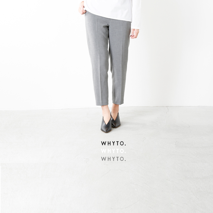 whyto(ホワイト)ダブルサテンクロップドパンツ wht18hpt3a