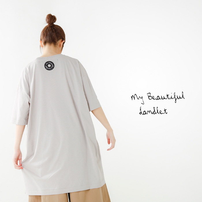 mybeautifullandlet(マイビューティフルランドレット)コットンベーシック半袖カットソーwm11-cs181112