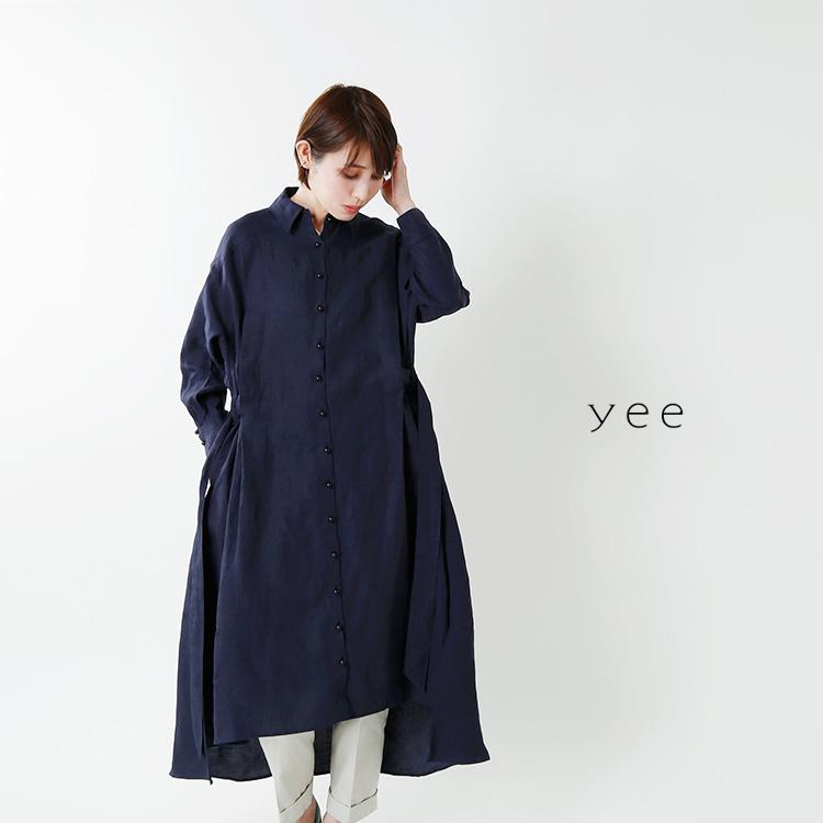 yee(イィ)<br>テンセルリネンコートワンピース y-0038-2