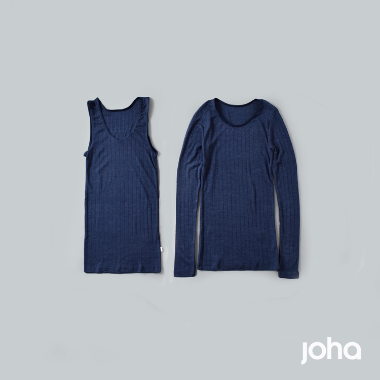 joha(ヨハ)ウールシルクロングスリーブアンダーシャツ 13325-185
