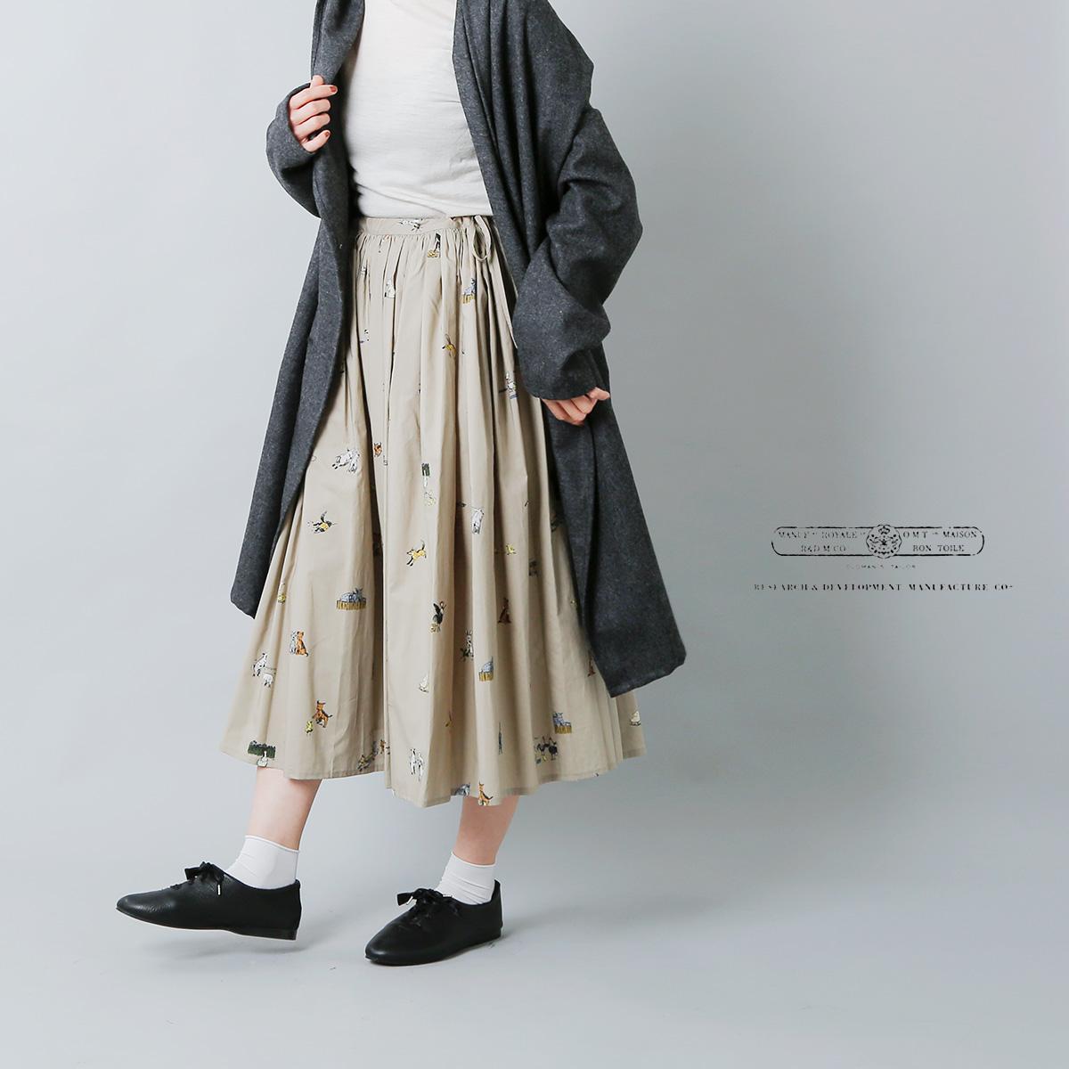 "R & D.M.Co-(オールドマンズテーラー)プリントコットンギャザースカート""FARMERS FAMILY GATHER SKIRT"" 3949"