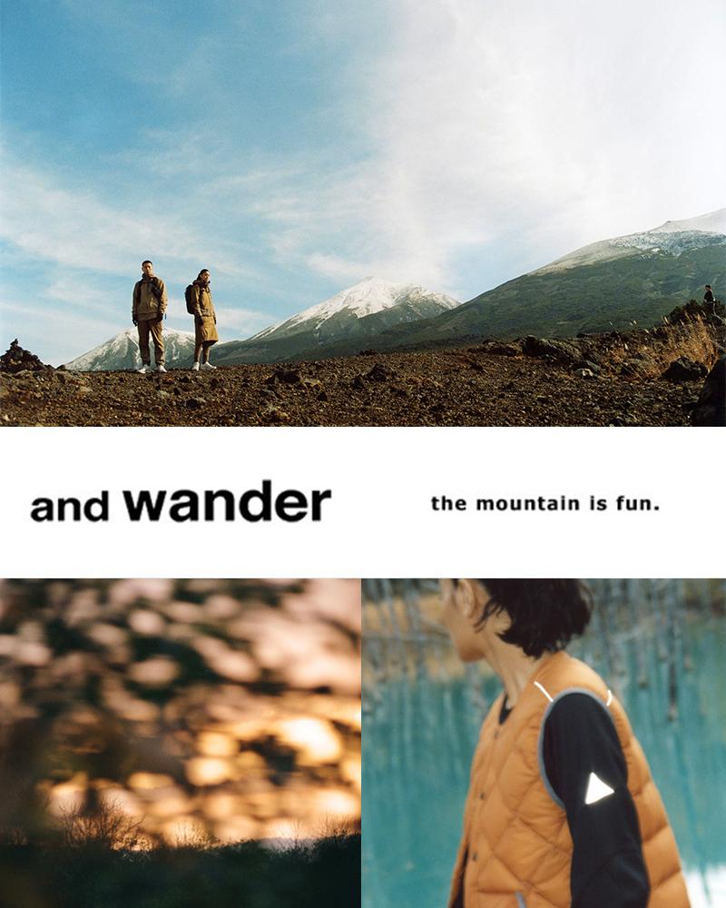 and wander(アンドワンダー)ハイロフトフリースプルオーバー aw93-jt093