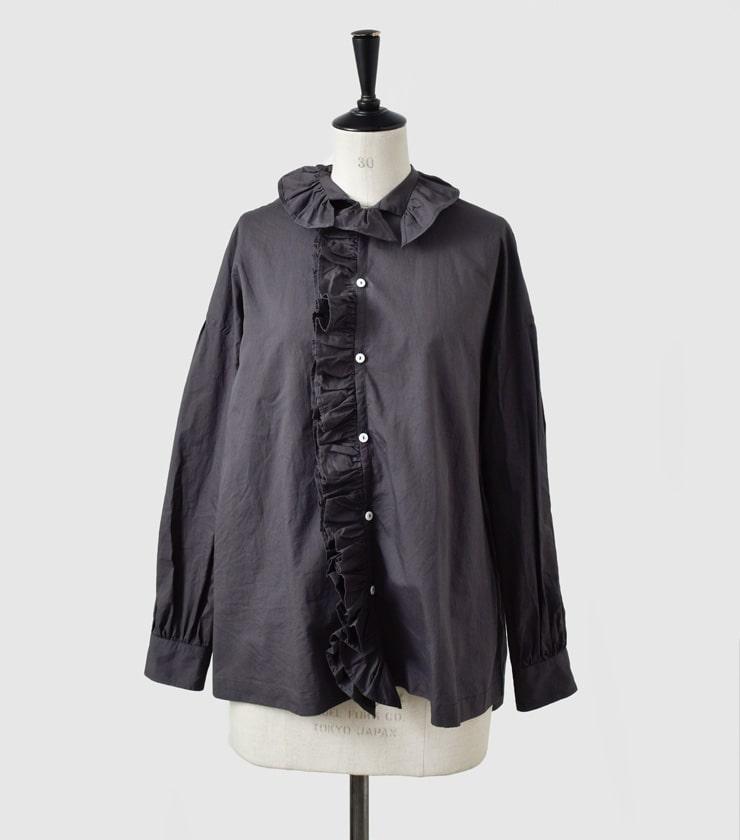 """TOUJOURS(トゥジュー)ハイカウントコットンツイルラッフルシャツ""""Ruffle Shirt"""" mm31fs02"""