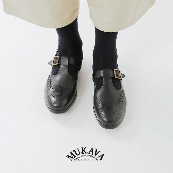 MUKAVA(ムカバ・ムカヴァ)メダリオンTストラップレザーシューズ mu-991
