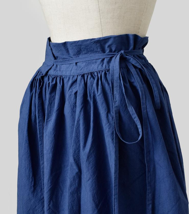 AU GARCONS(オーギャルソン)コットンラップロングスカート sara