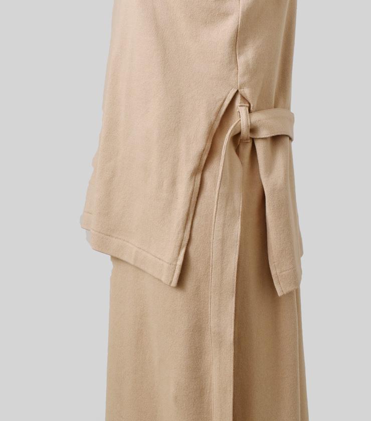 THE HINOKI(ザ ヒノキ)オーガニックコットンロングスリーブレイヤードドレス th19w-21