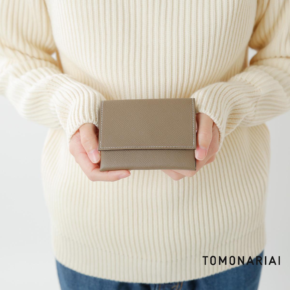 TOMO NARIAI(トモ ナリアイ)型押しカーフレザーウォレット wl19101