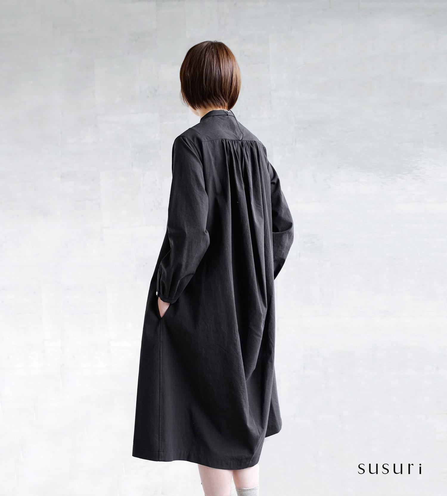 susuri(ススリ)ヘムレンシャツワンピース 19-205
